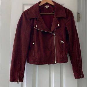 Velvet vegan moto jacket